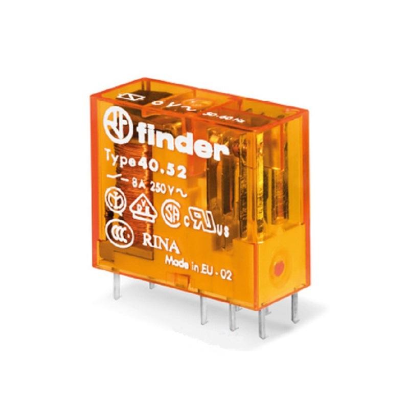 رله ۸ پایه ۲ کنتاکت ۴۸VAC , 8A کد ۴۰٫۵۲٫۸٫۰۴۸٫۰۰۰۰ finder ایتالیا