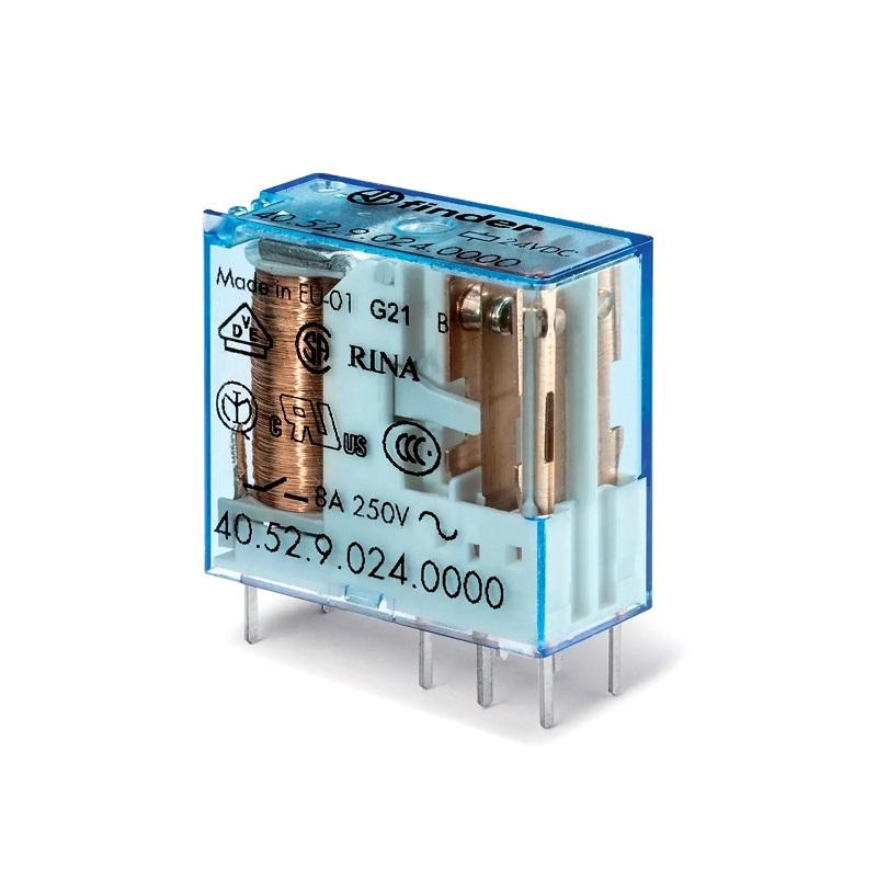 رله ۸ پایه ۲ کنتاکت ۱۱۰VDC , 8A کد ۴۰٫۵۲٫۹٫۱۱۰٫۰۰۰۰ finder ایتالیا