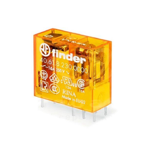 رله 8 پایه 1 کنتاکت 230VAC , 16A کد 40.61.8.230.0000 finder ایتالیا