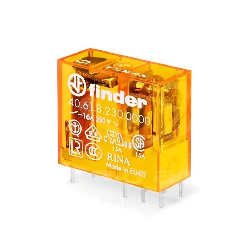 رله ۸ پایه ۱ کنتاکت ۲۳۰VAC , 16A کد ۴۰٫۶۱٫۸٫۲۳۰٫۰۰۰۰ finder ایتالیا