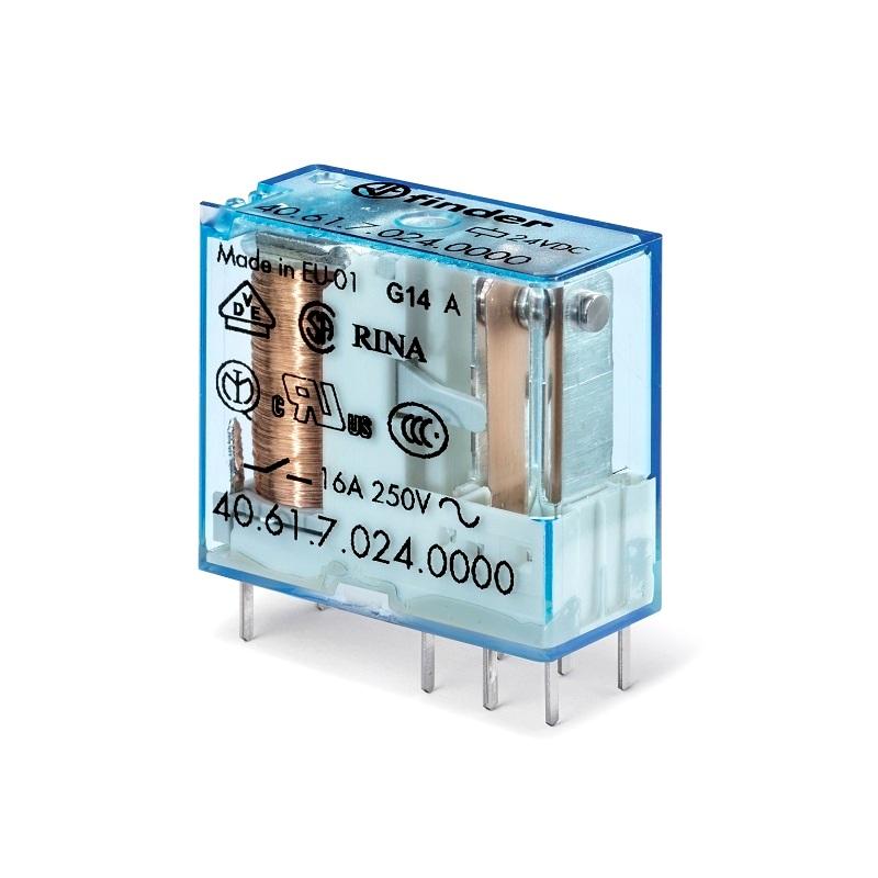 رله ۸ پایه ۱ کنتاکت ۱۲VDC , 16A کد ۴۰٫۶۱٫۹٫۰۱۲٫۰۰۰۰ finder ایتالیا
