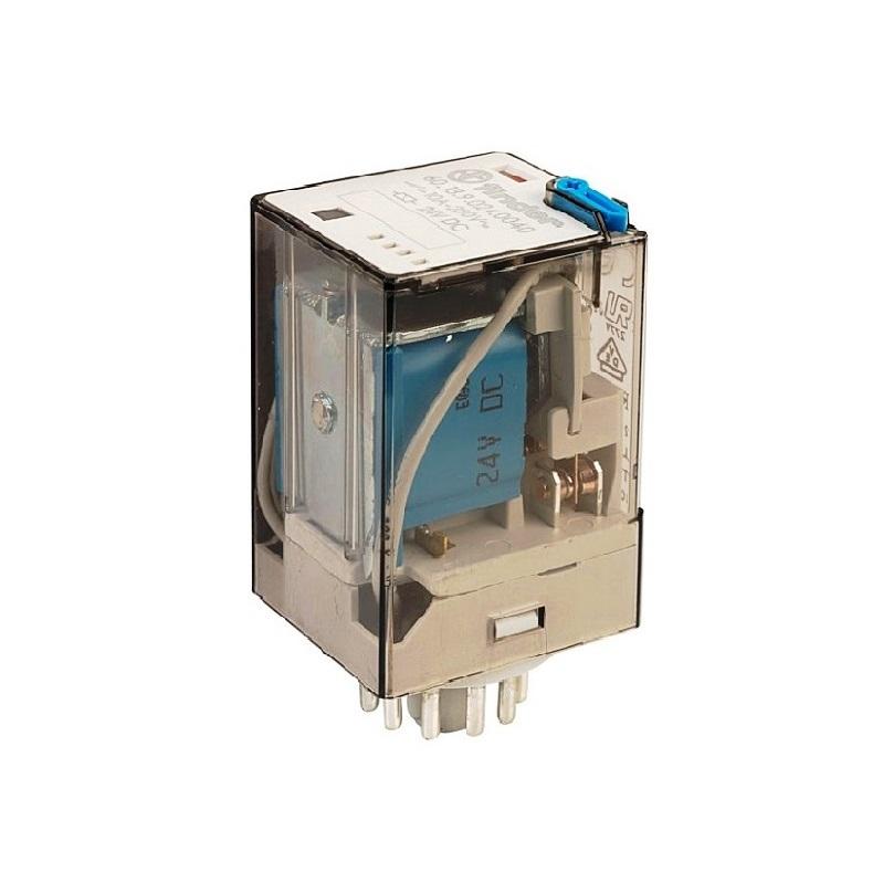 رله 8 پایه 2 کنتاکت 12VDC , 10A کد 60.12.9.012.0040 finder ایتالیا