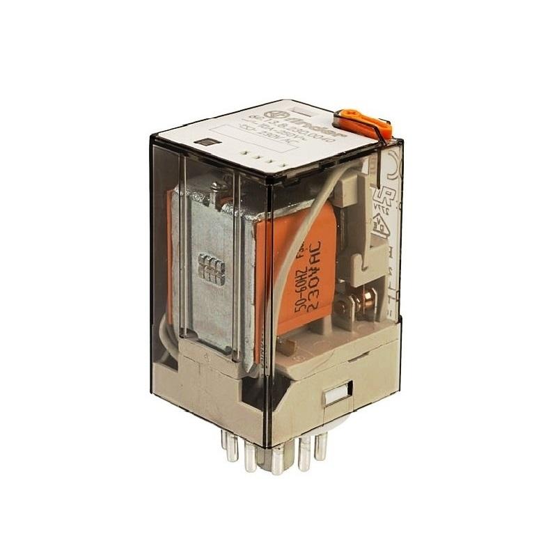 رله ۱۱ پایه ۳ کنتاکت ۱۱۰VAC , 10A کد ۶۰٫۱۳٫۸٫۱۱۰٫۰۰۴۰ finder ایتالیا
