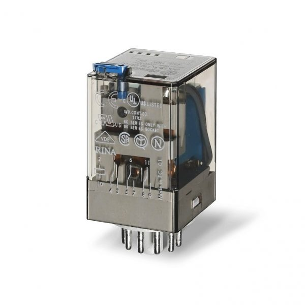 رله 11 پایه 3 کنتاکت 12VDC , 10A کد 60.13.9.012.0040 finder ایتالیا