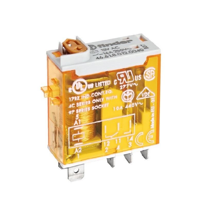 رله ۵ پایه ۱ کنتاکت ۱۶ آمپر ۲۳۰VAC کد ۴۶٫۶۱٫۹٫۰۱۲٫۰۰۷۴ finder ایتالیا