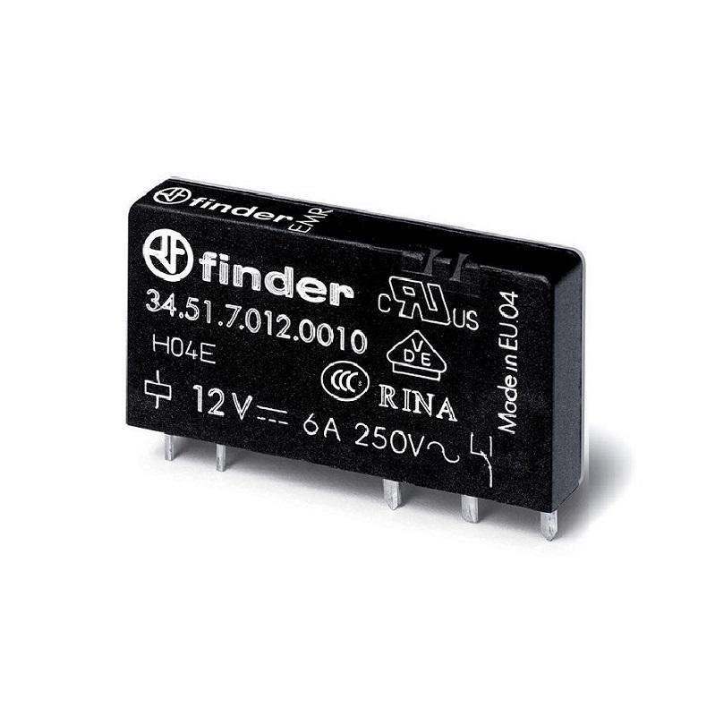 رله پی ال سی ۵ پایه ۱ کنتاکت ۶ آمپر ۱۲VDC کد ۳۴٫۵۱٫۷٫۰۱۲٫۰۰۱۰ finder ایتالیا